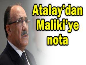Atalaydan Irak Başbakanına nota