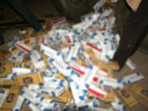 5 bin 230 paket kaçak sigara ele geçirildi