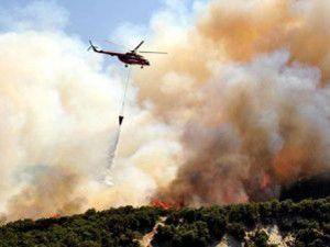Yangın helikopteri düştü!