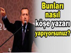 Erdoğandan eleştirilere sert tepki