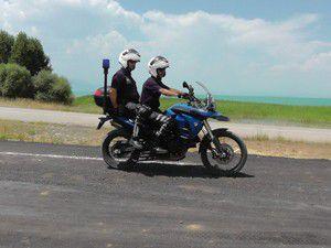 Sahilde jandarma motorize asayiş timleri görevli