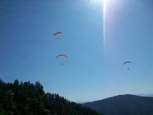 Beyşehirde 1. Uluslararası Yamaç Paraşütü Şenlikleri