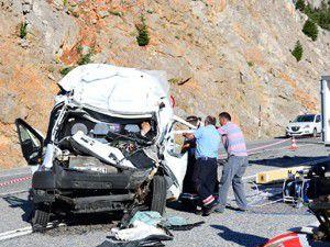 Konya-Antalya yolunda trafik kazası