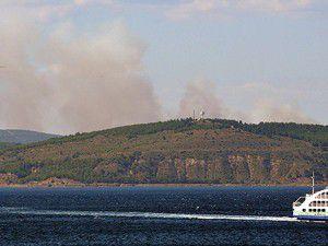 Yangın asırlık mermileri patlattı