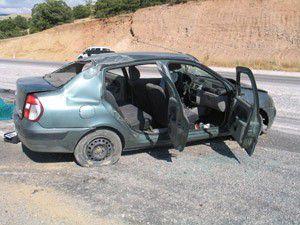 Konyada kaza: 1 ölü, 3 yaralı
