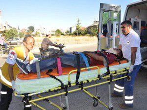 Seydişehirde trafik kazası: 1 yaralı