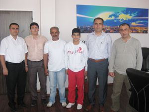 Şampiyon Judocudan Başkan Altay'a ziyaret