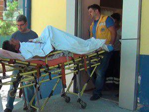 Amca ve yeğeni ağır yaralandı