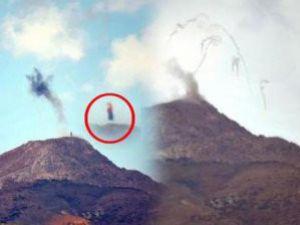 PKK bayrağı böyle imha edildi