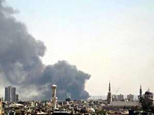 Uçaklar bomba yağdırdı