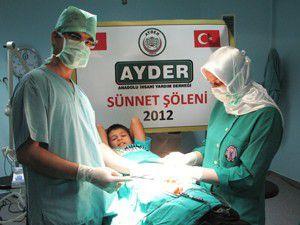Özel Selçuklu Hastanesinde yetimler sünnet edildi
