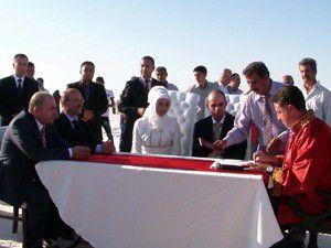 Tuz Gölünde toplu nikah töreni