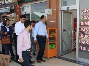 Başkan Altaydan esnaf ziyareti