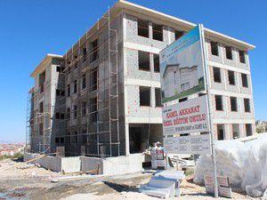 Kamil Akkanat Özel Eğitim Okulu binası yükseliyor