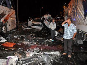 Boluda zincirleme kaza: 9 ölü