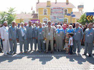 Sarayönünde 51 hacı adayı dualarla uğurlandı