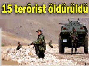 2 şehit, 15 terörist öldürüldü!