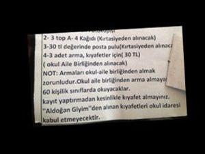 Velileri Şaşkına Çeviren Not