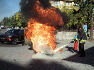 Devlet Hastanesinde yangın ve deprem tatbikatı