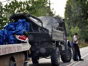 Askeri araç kaza kaptı: 5 yaralı