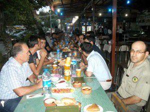 İşletme Müdürlüğü personeline veda yemeği