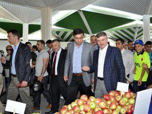 Organik ürün pazarının açılışı yapıldı