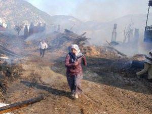 Köy Cayır Cayır Yandı