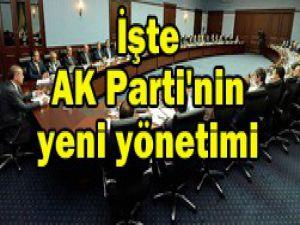 AK Partide görev dağılımı belli oldu