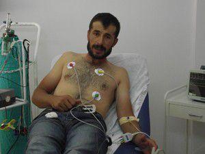 Akrep sokması sonucu hastanelik oldu