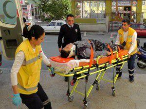 Ceviz ağacından düşen kadın yaralandı