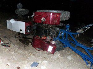 Kuluda traktör devrildi: 1 yaralı