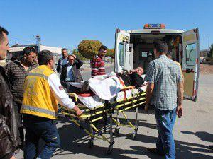 Beyşehirde trafik kazası: 1 yaralı