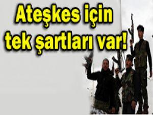 Suriyede şartlı ateşkes!