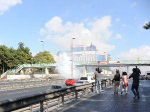 Metrobüs yolunda ses bombası patlatıldı