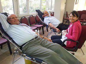 Karapınarda kan bağışına yoğun ilgi