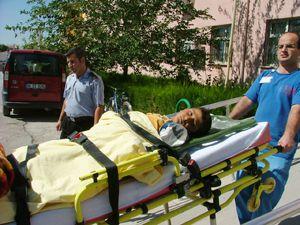 Konyada trafik kazası. 1 yaralı