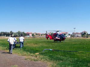 Hava ambulansı ilk hastasını taşıdı