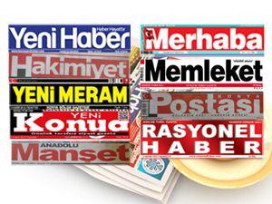 İşte Konyada günün gazete manşetleri