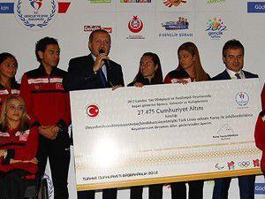 Erdoğan sporcularla bir araya geldi