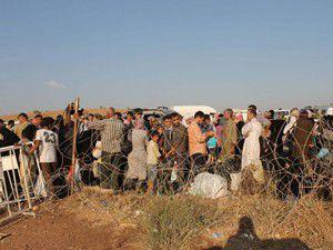 Çatışmada yaralananlar sınır kapısına getirildi