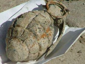Konyada patlamamış el bombası