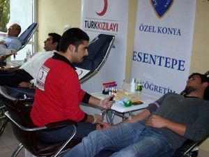 Esentepe İlköğretim Okulundan kan bağışı