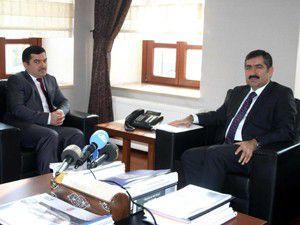 Tacikistan Büyükelçisinden Vali Doğana ziyaret