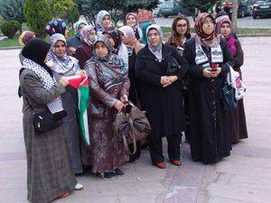 Akşehirde İsrail protesto edildi