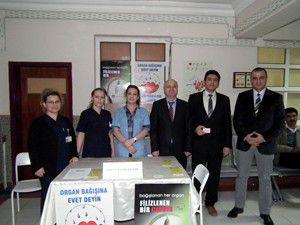 Akşehirde organ bağışı standı açıldı