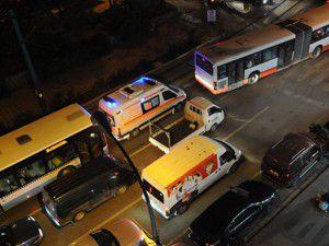 Otobüsler trafiği felç etti
