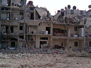 Şamın birçok semti harabeye döndü