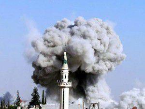 Şamın en güvenli bölgesine havan mermisi düştü