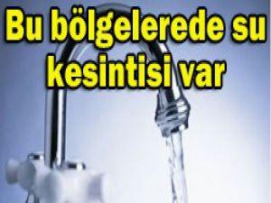 Konyada pazar günü su kesintisi var