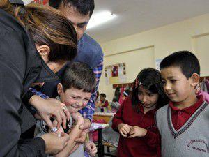 Halkapınarda 174 öğrenciye aşı yapıldı
